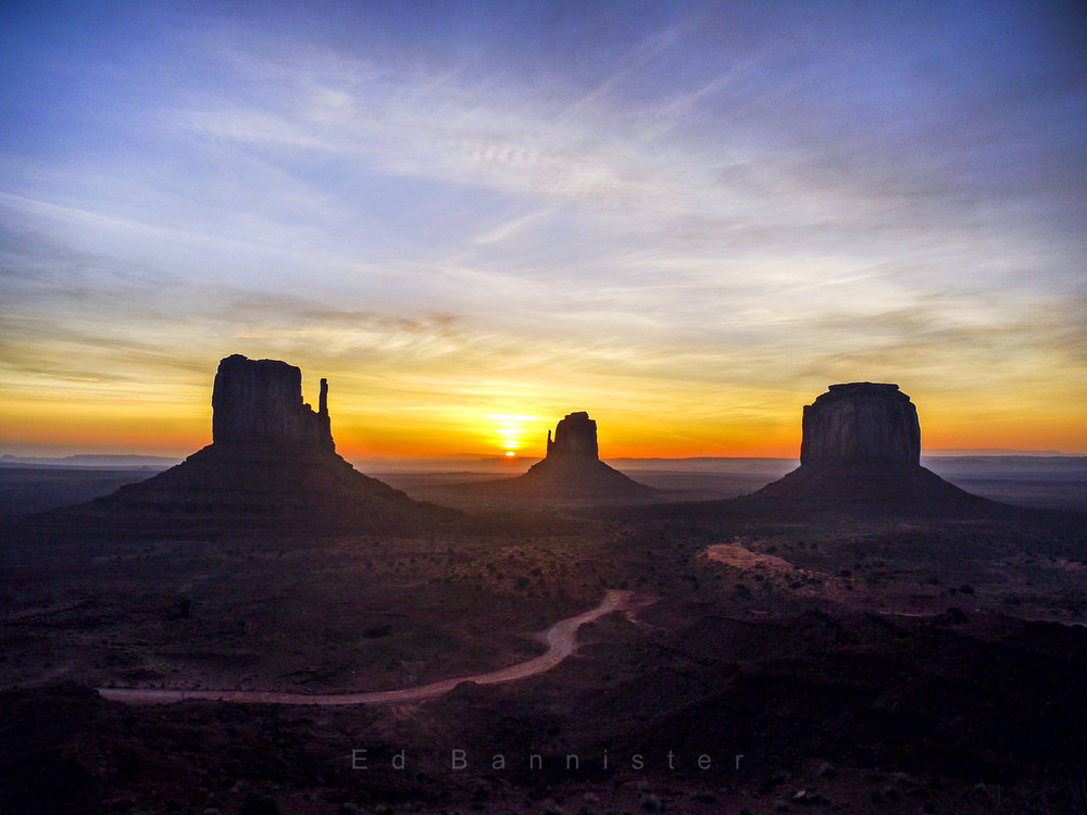 Sunrise At The Mittens  Location: Monument Valley, AZ, USA