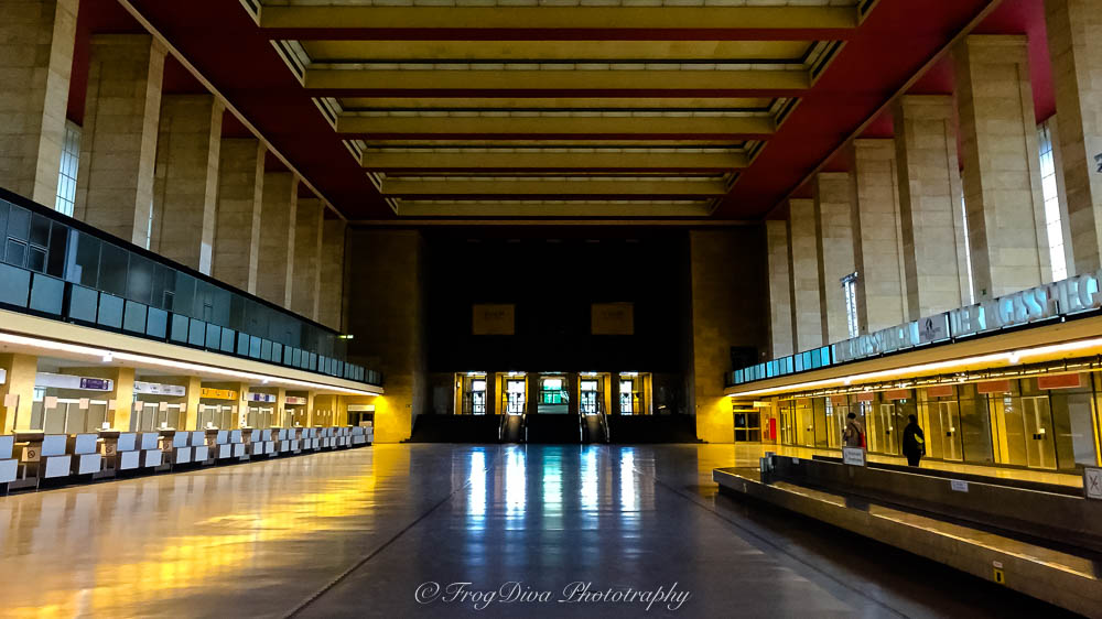 Tempelhof Airport departure hall