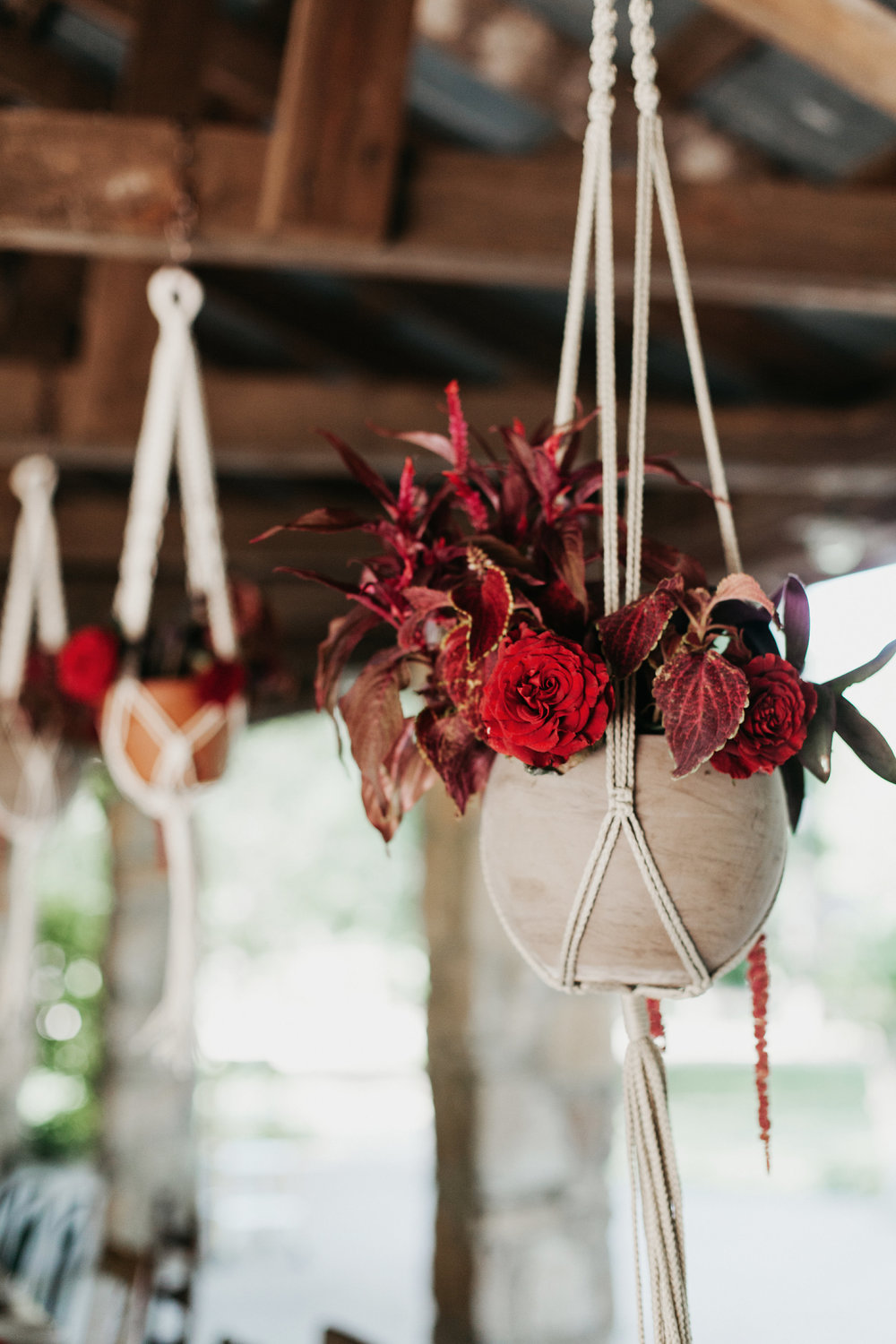 macrame wedding flowers