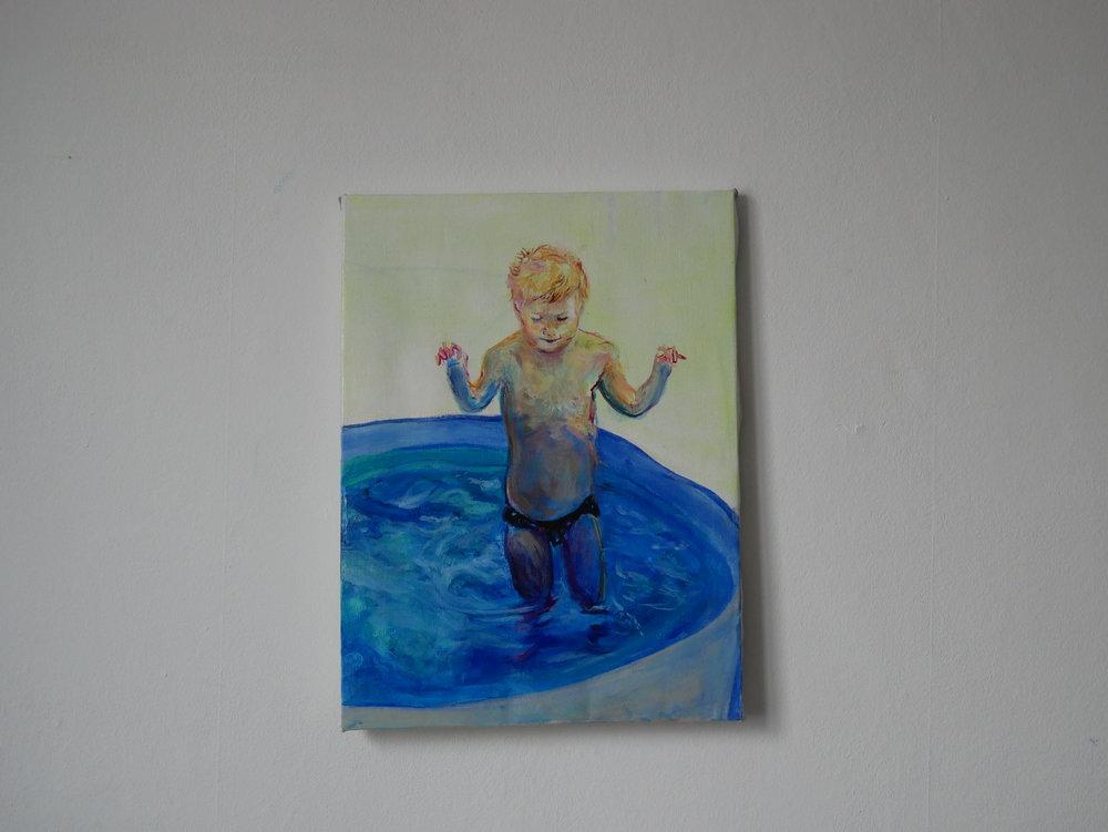 Studie of Aquatic Ape 2 . Oil on canvas. 40 x 30 cm