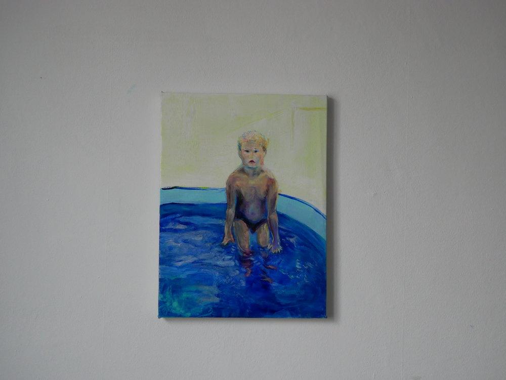 Studie of Aquatic Ape 3 . Oil on canvas. 40 x 30 cm