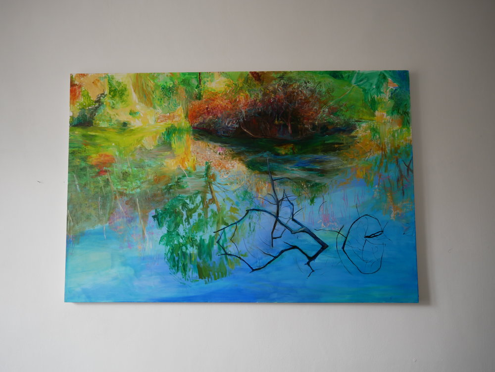 Reflections . Oil on canvas. 150 x 100 cm