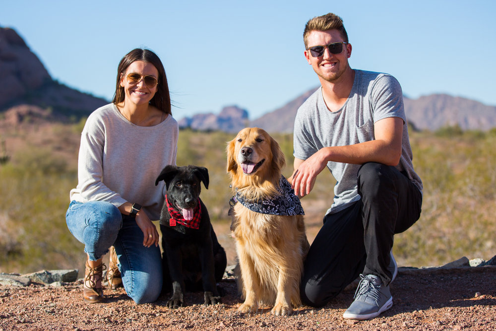 Flash and Hound outdoor pet family portrait