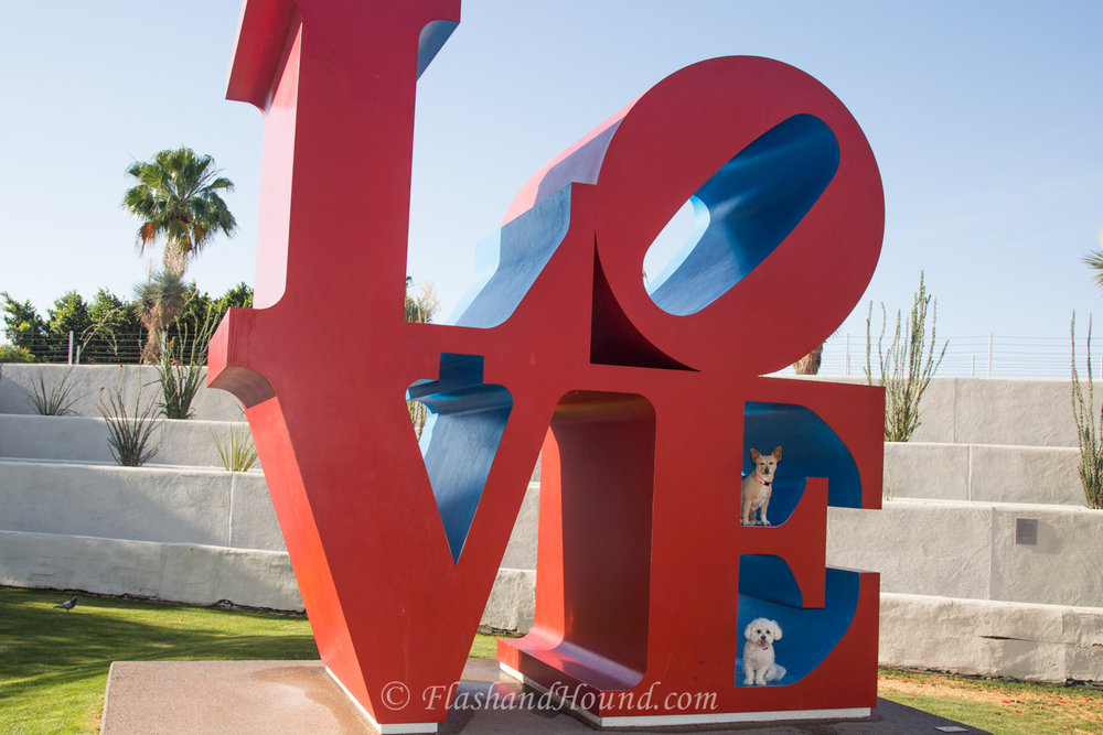 Flash and Hound Love Statue