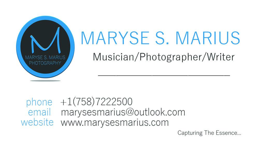 Maryse S Marius - Business Card Sample with Logo - Blue, Grey - M, P, W.jpg