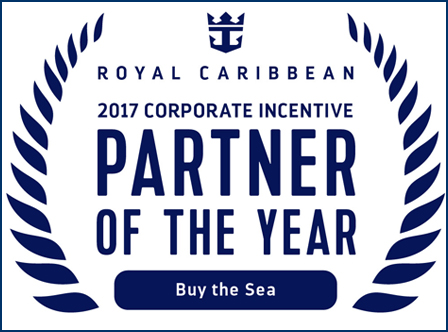 Royal Caribbean Names Partners Of The Year For 2017 Buy the Sea was named partner of the year for corporate meeting and incentive travel. -