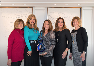 """2017 March, Crystal Annual Sales Achievement Award - Buy The Sea is honored to be in the Crystal Million Dollar Producer """"club"""" once again! We were delighted to sail with Crystal Cruise Line's executive team on the March 27th annual sales gala onboard the Crystal Mozart, where we were recognized and presented with a spectacular glass trophy. It is our pleasure to continue to present all things Crystal to our clients. Once you sail on Crystal, you will be changed for good!"""""""