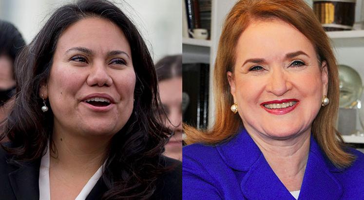 Texas elected its first two Latina congresswomen, Sylvia Garcia (L) and Veronica Escobar (R).