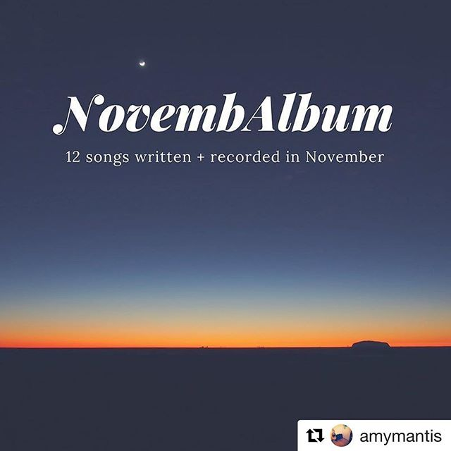 I (@amymantis) copied Wells (@albrittish) and did a #NovembAlbum as well. (http://bit.ly/mantis-novembalbum) • I've always been a constant songwriter, but I don't think I've ever put out 12 songs in 30 days (less really as I didn't start or finish my first one until November 6th). They're not perfect by any means, but they are, as I like to say, close enough for rock and roll. And, a la Seth Godin, I like to ship things. And done is better than perfect. • I hope you take a listen or two and enjoy what you hear. Some day some will be more perfect via @spacebetweenmusic but until then, enjoy the imperfections. • Thank you. And thank you, Wells, for the inspiration and friendship and musicianship and all the other goodness that you bring and that you are. • • • #songs #newsongs #songwriter #musician #ascap #seasac #bmi #guitar #vocals #acousticguitar #electricguitar #fender #martinguitar #rockandroll #tompetty #productive #music #bostonmusic #doneisbetterthanperfect #soundcloud #classicrock #womenwhorock #womenwhowrite #womenwhosing #suproamps #hustle #driven . . . #Repost @amymantis (@get_repost)