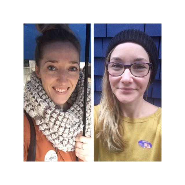 Two voters! 🗳🗳 We're grateful for the privilege to do this and for all the voters out there today. There were long lines at our polling places! Let's do this! 🇺🇸