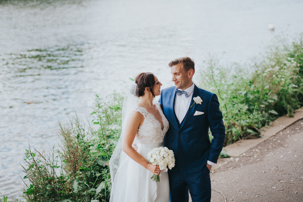 CRL-405-The Bingham wedding Richmond-Claire Rob bridal couple portraits on Thamespath.jpg