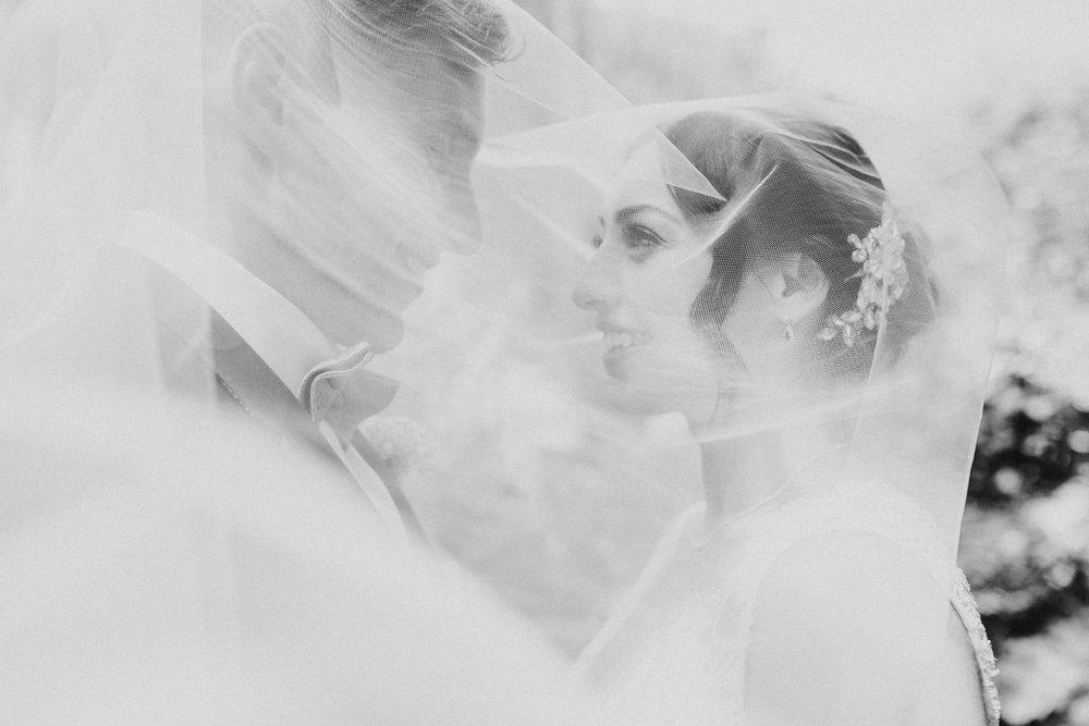 CRL-428-The Bingham wedding Richmond-Claire Rob wedding couple portraits veil shot.jpg
