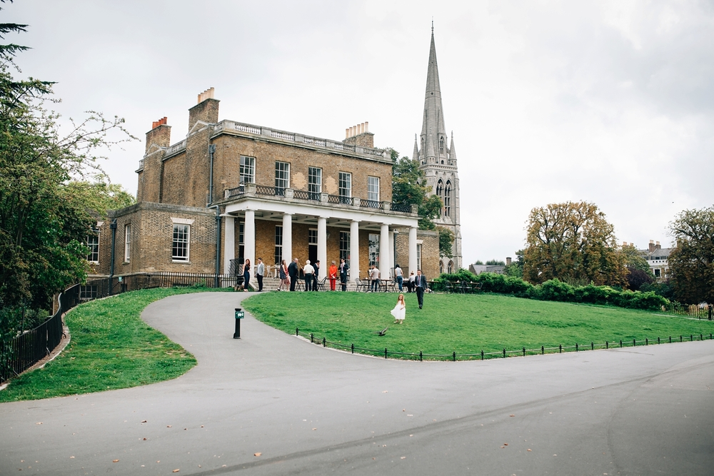 exterior Clissold House Hackney wedding venue