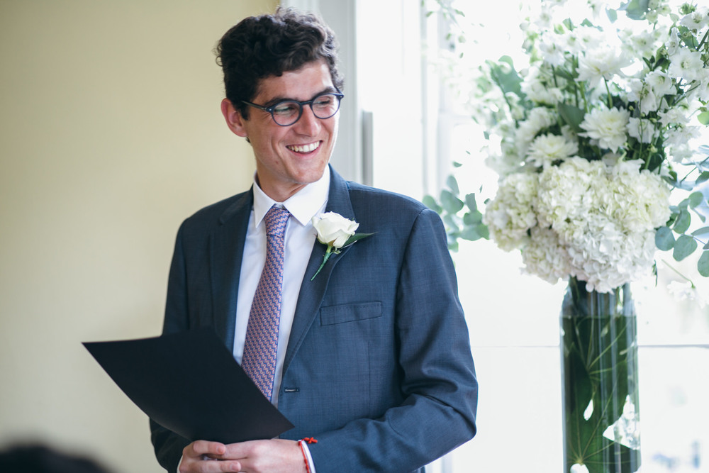reading by brother of groom Clissold House wedding ceremony