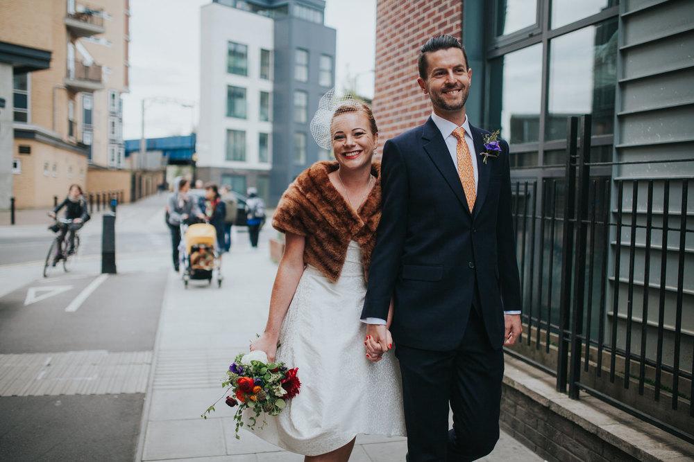 MS-Londesborough-Pub-wedding-Hackney-alternative-photographer-83-Marie-Simon-walking-towards-marriage-ceremony.jpg