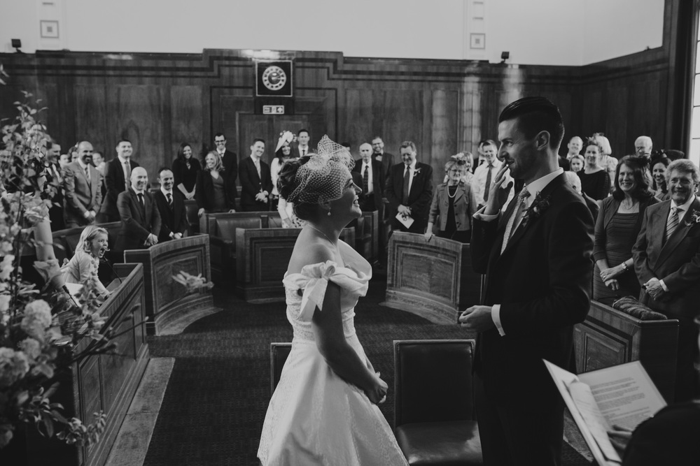 MS-Londesborough-Pub-wedding-Hackney-alternative-photographer-111-BW-bride-groom-ceremony.jpg