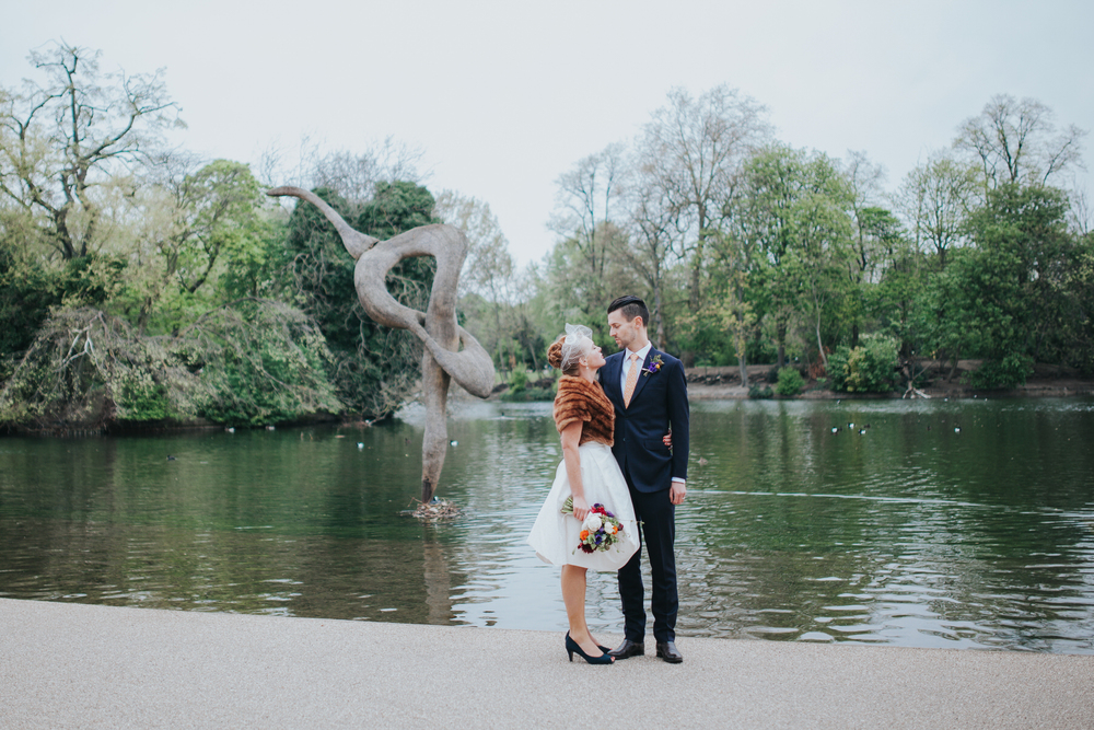 MS-Londesborough-Pub-wedding-Hackney-alternative-photographer-153-just-married-quirky-bride-groom-lake-Victoria-Park.jpg
