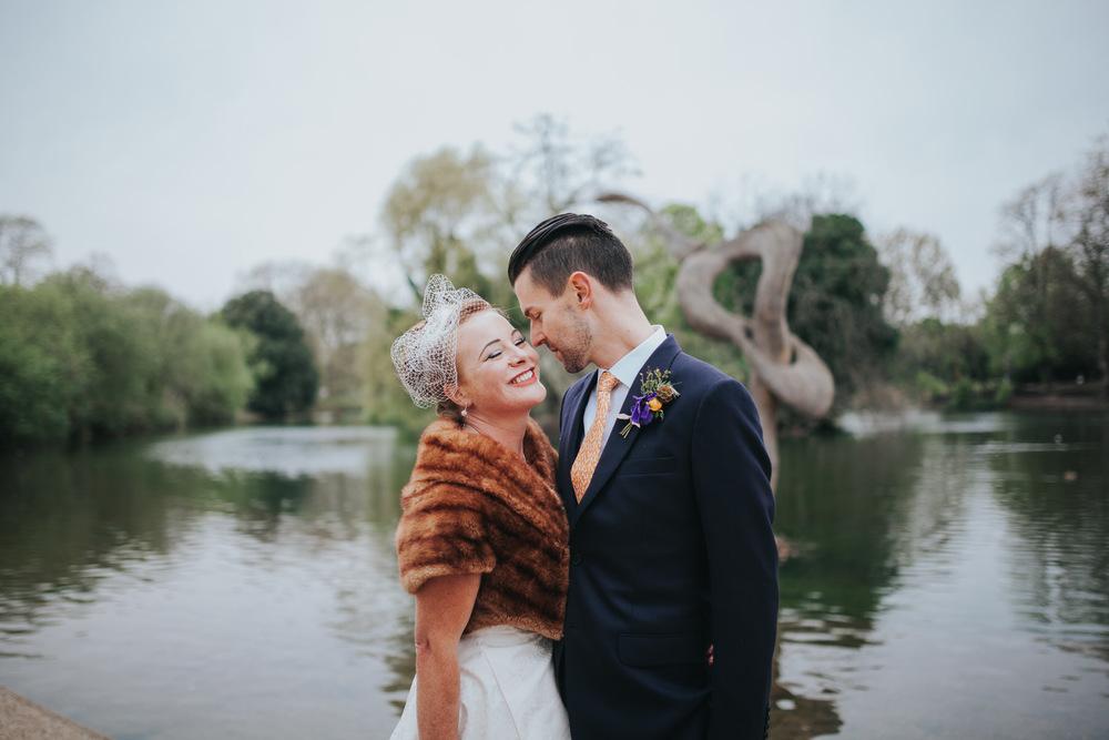 MS-Londesborough-Pub-wedding-Hackney-alternative-photographer-159-just-married-untraditional-bride-groom-bridal-portraits-Victoria-Park.jpg