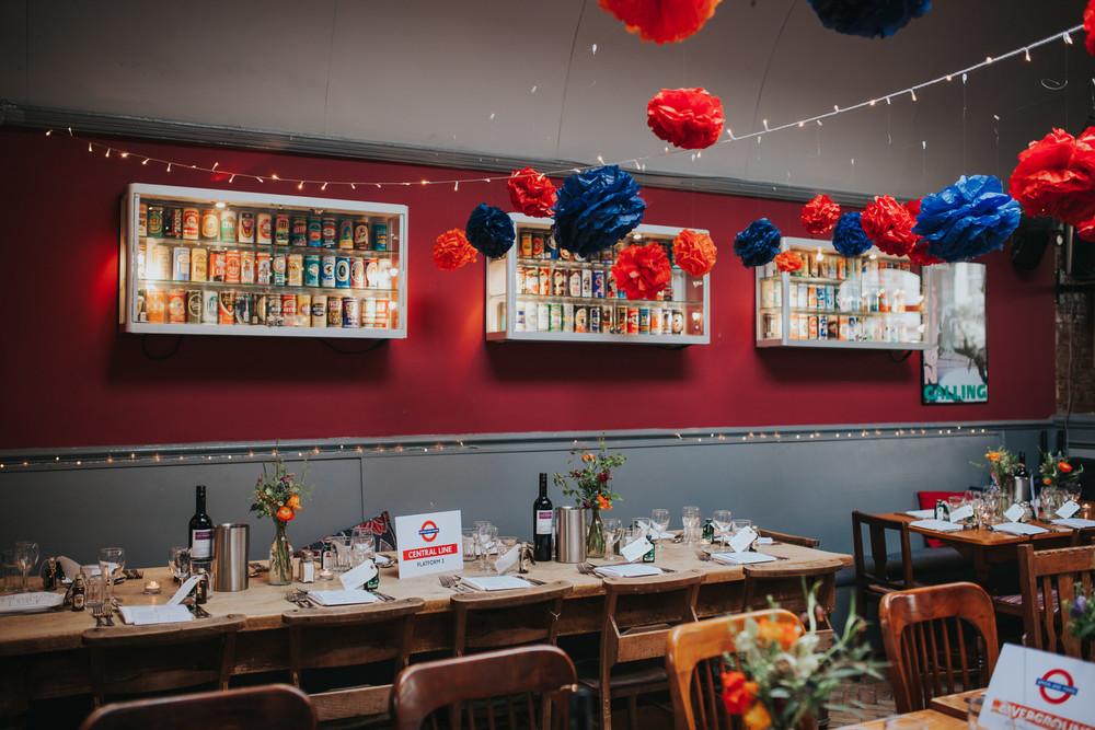 London Underground inspired The Londesborough Pub wedding