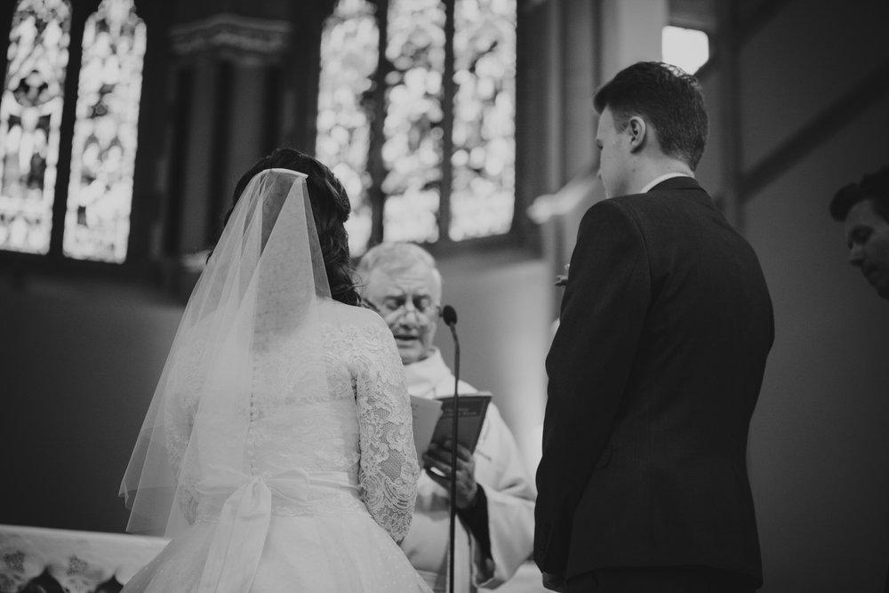 45 bride groom black white photo Fulham Catholic Church wedding.jpg