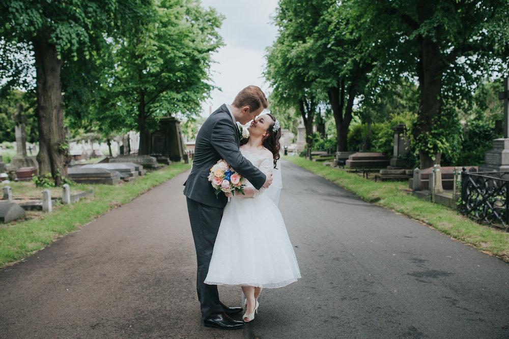 151 groom bride wedding portraits Brompton Cemetery.jpg