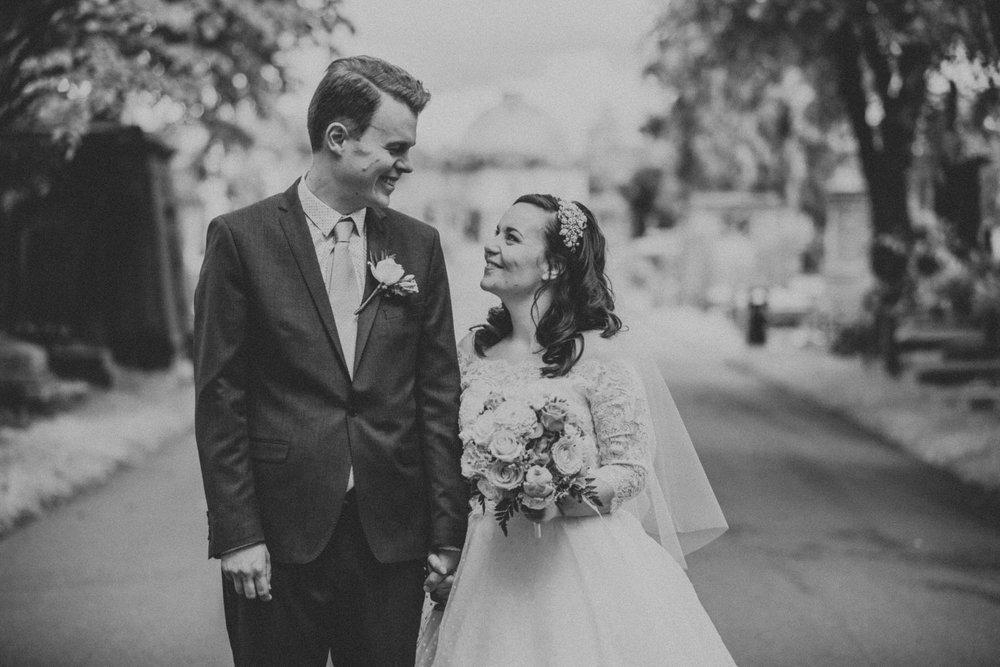 161BW groom bride wedding portraits Brompton Cemetery.jpg