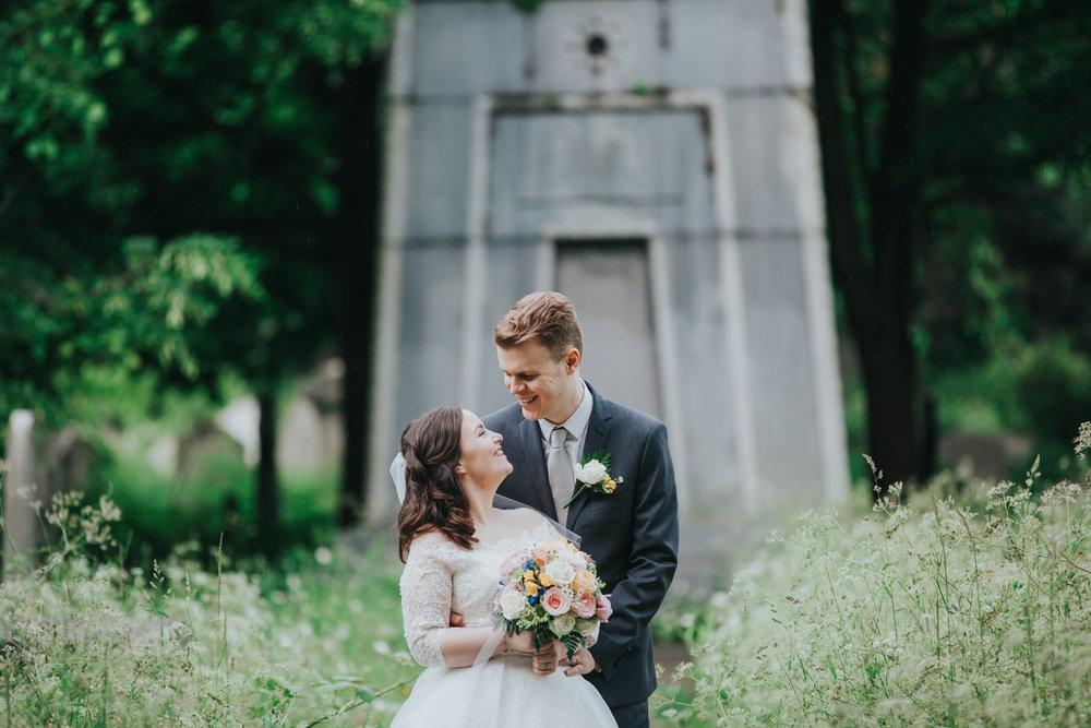 183-groom bride wedding portraits Brompton Cemetery.jpg
