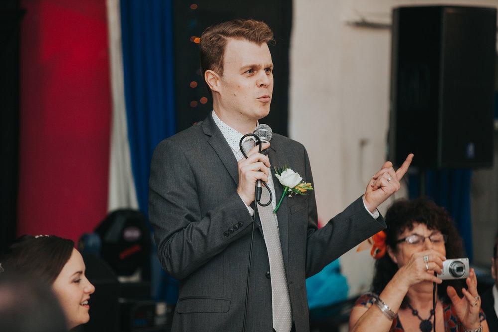 232 grooms speech school hall wedding reception Fulham.jpg