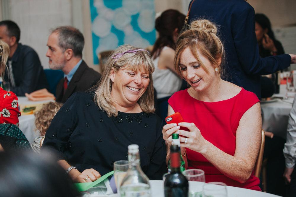 248 female guests school hall wedding reception London.jpg