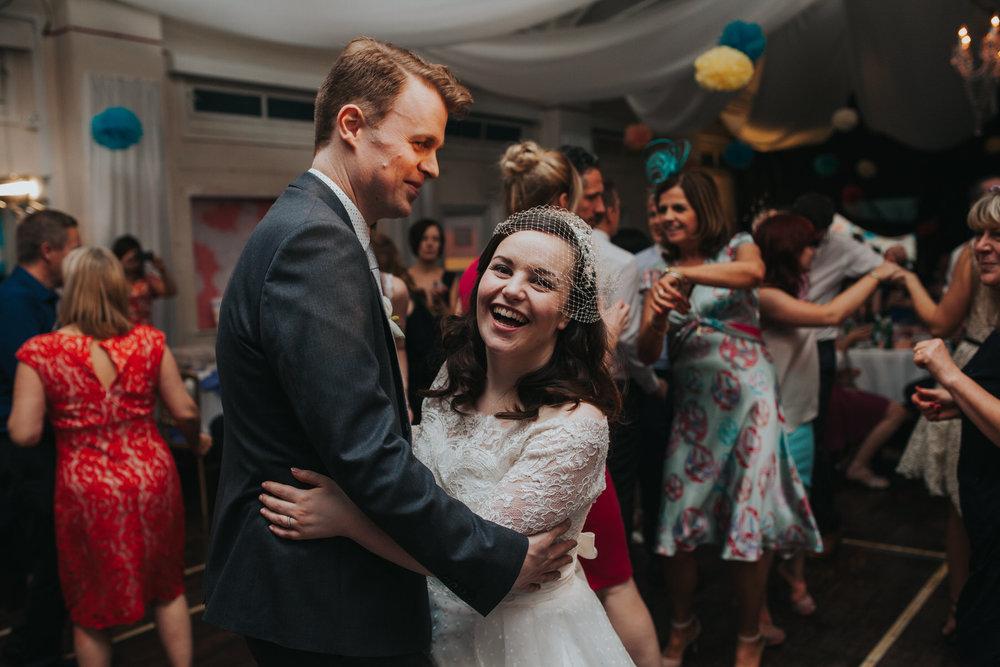263 first dance school hall wedding reception London.jpg