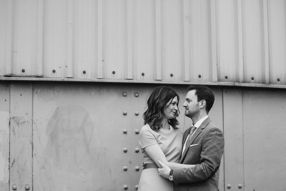 48-St Chads Place urban BW couple bridal portrait.jpg