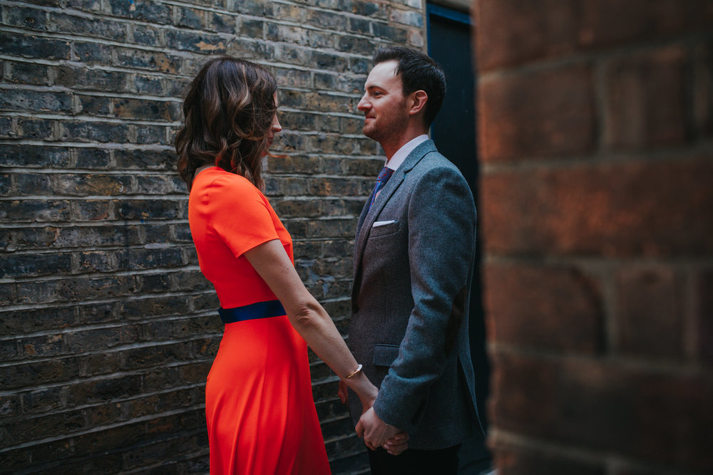 129-St Chads Place wedding creative couple neon red dress.jpg