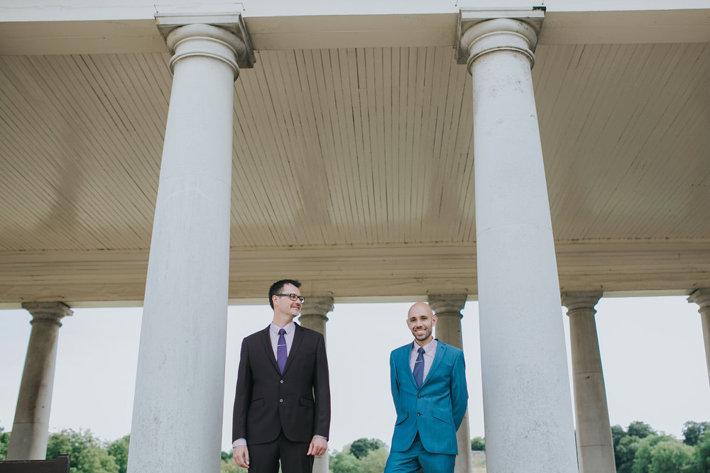 46 Greenwich colonades two grooms marriage photos London.jpg