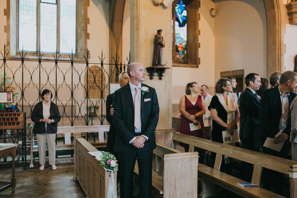 62- groom waiting for bride Dulwich wedding.jpg