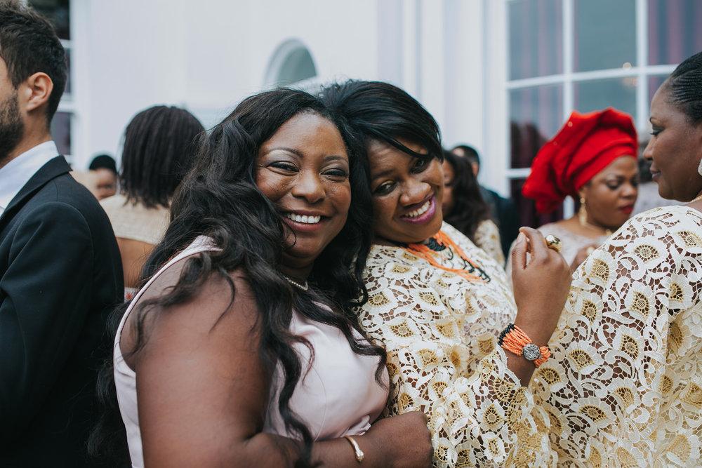 140 Dulwich wedding guests posing.jpg