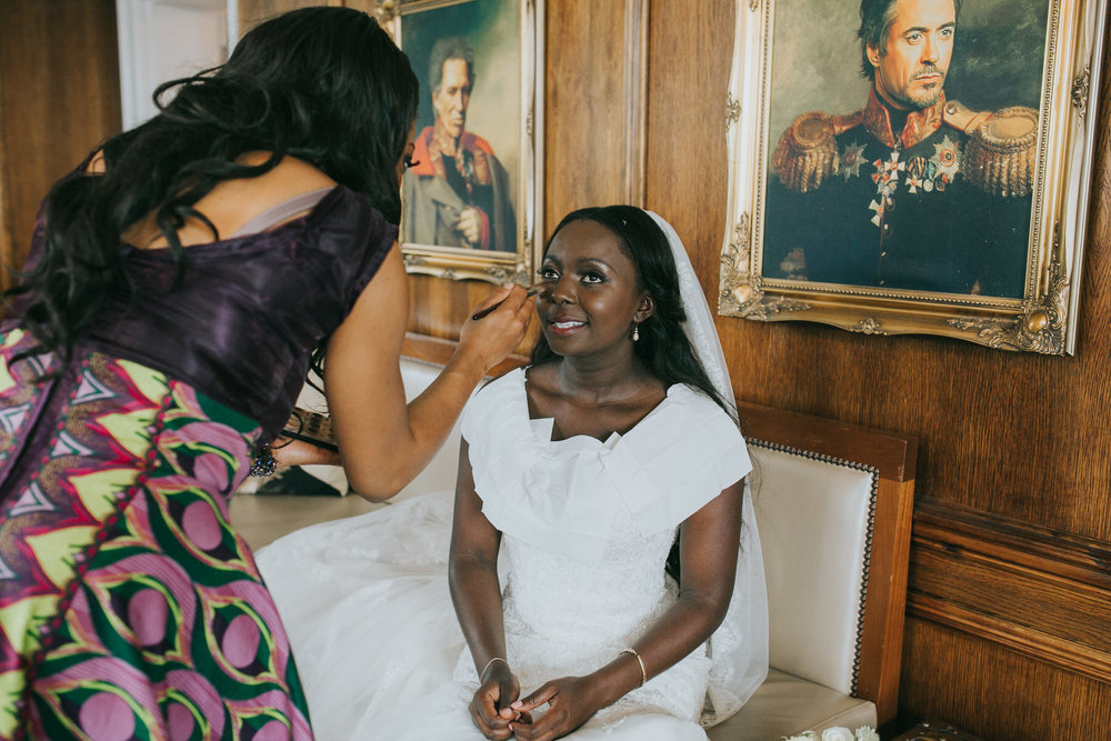 157 bride having makeup retouched upstairs Belair House.jpg