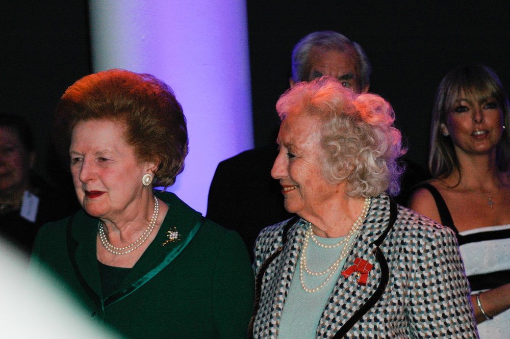 3-Dame Vera Lynn 90th birthday Imperial war Museum Margaret Thatcher.jpg