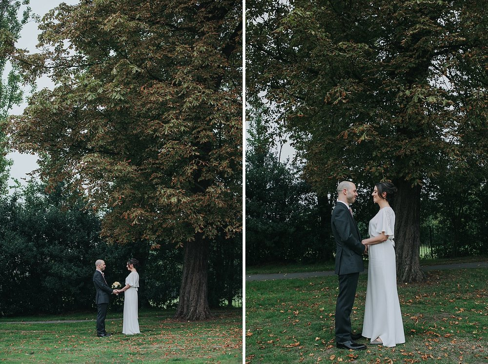146 Belair Park Dulwich trees wedding alternative portrait.jpg