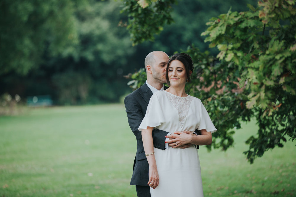 Belair House London wedding couple portraits in park