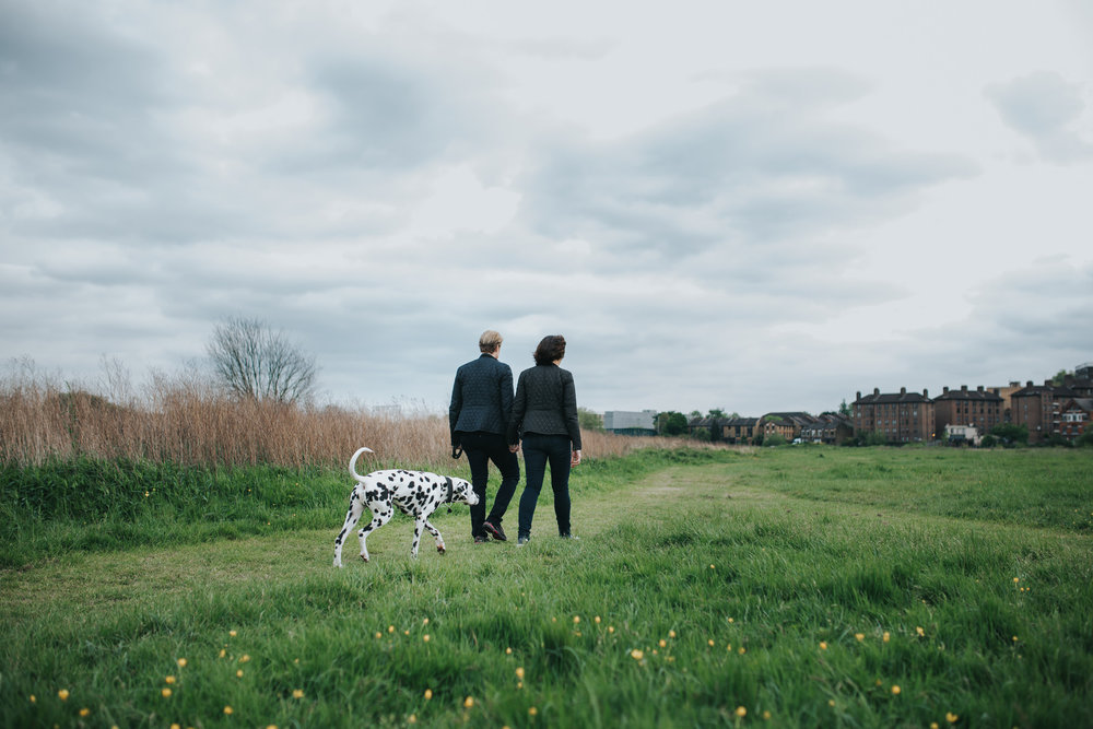 95 Hackney marshes relaxed engagement shoot dalmatian dog.jpg