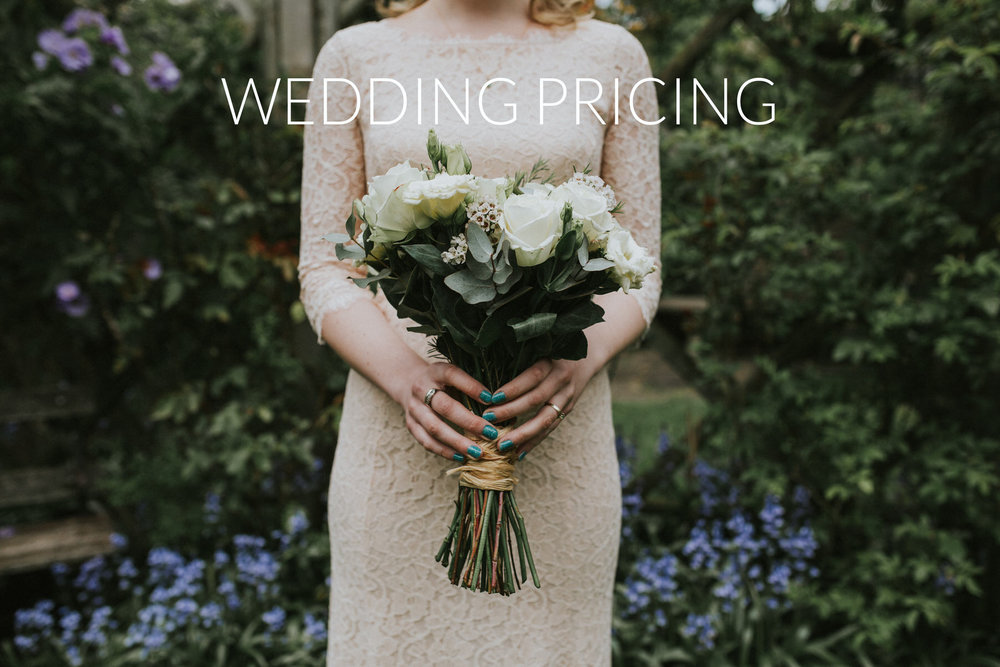 Alternative Modern Wedding Photography Pricing