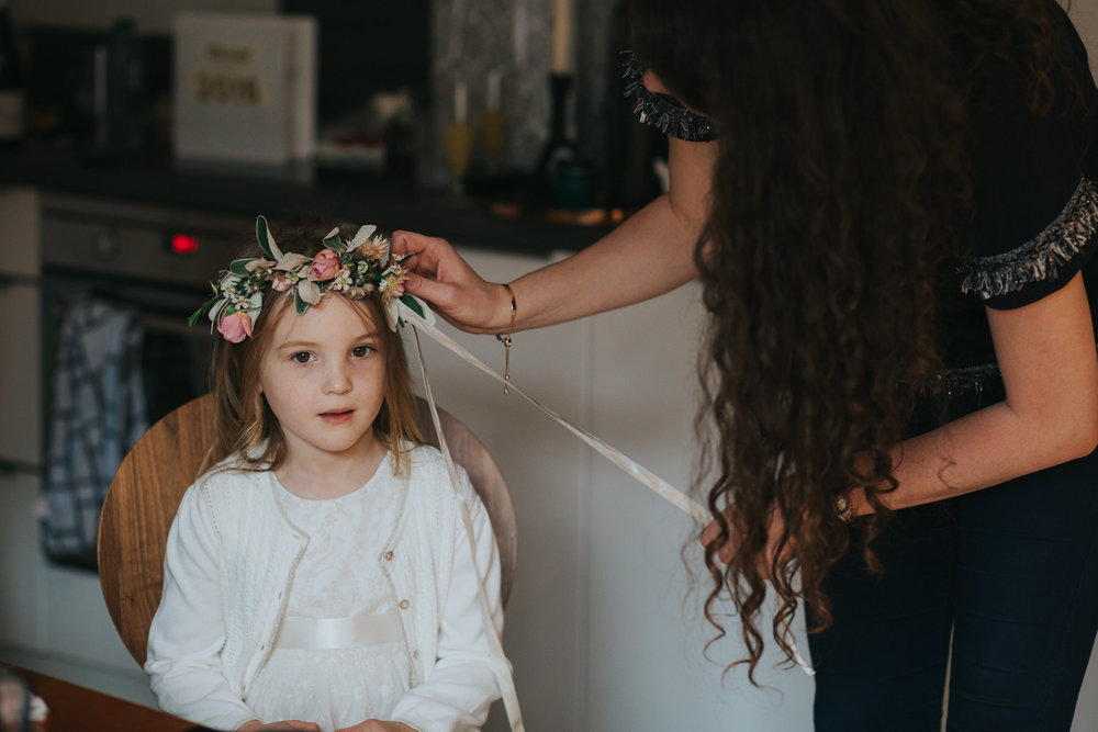 London documentary photographer flowergirl flower crown plaited.jpg