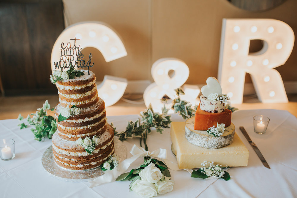 Naked caked wedding cheese tower Bingham Hotel.jpg