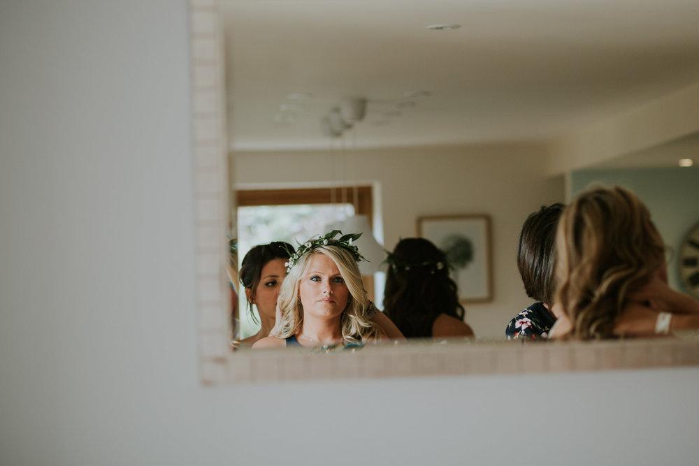 12 green fern crowns bridesmaids forest wedding Sussex.jpg