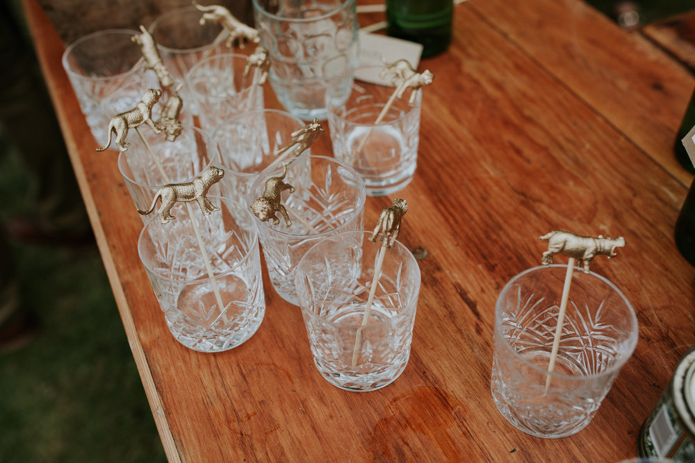 70 gold animal cocktail swizzler sticks wedding drink detail.jpg