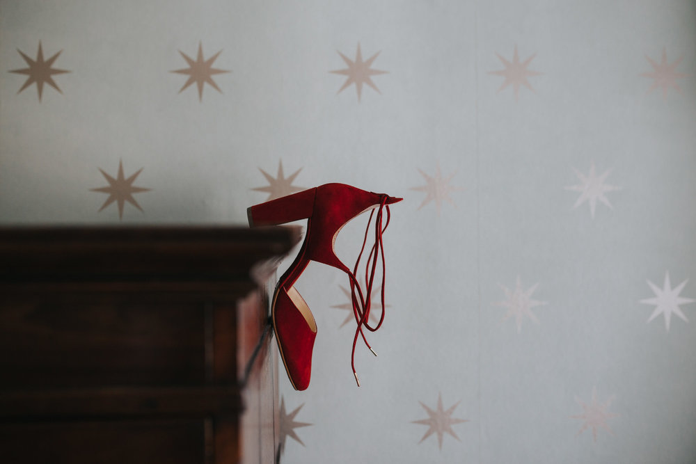 217 red wedding shoe detail Portmeirion.jpg