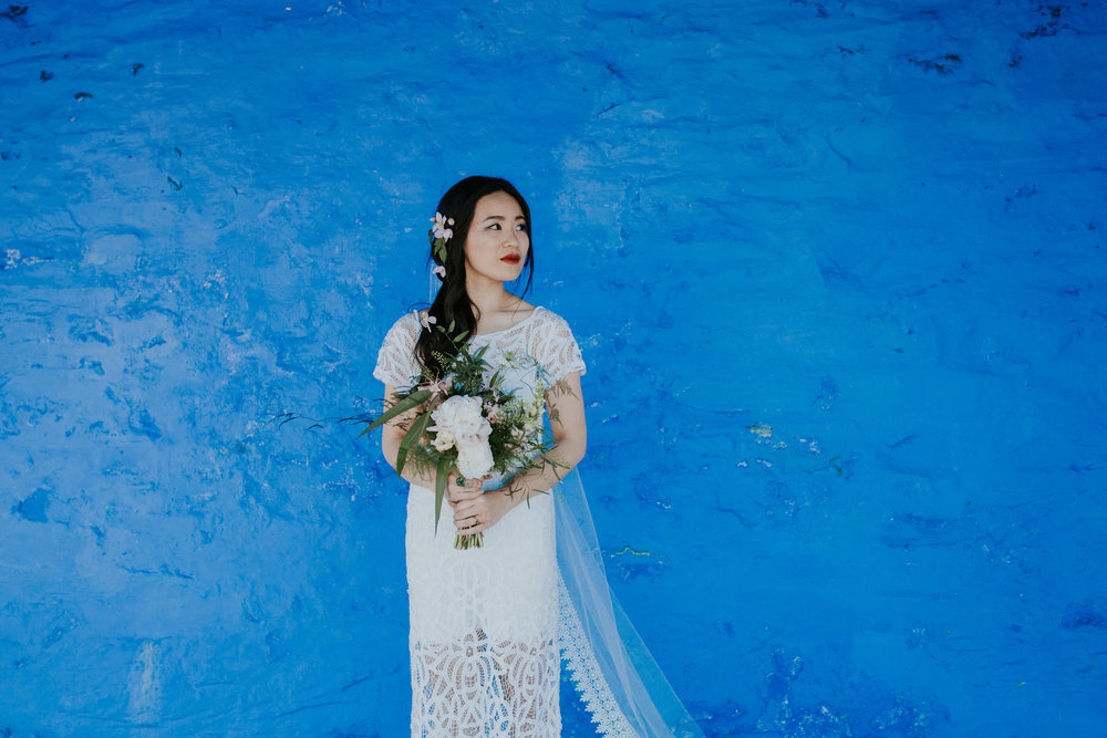 664 bride Shaina's bridal portrait Portmeirion wedding photographer.jpg