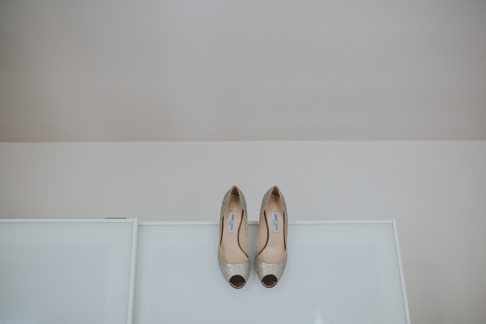 28 gold Jimmy Choo wedding heels Islington wedding photographer.jpg