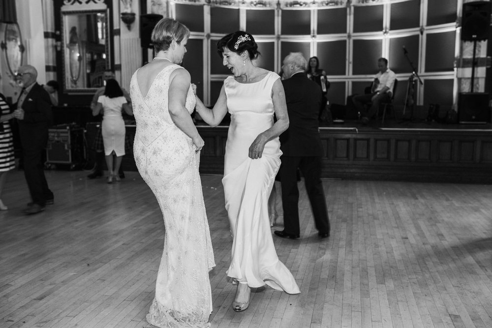 268 two brides first dance Finsbury Town Hall wedding.jpg
