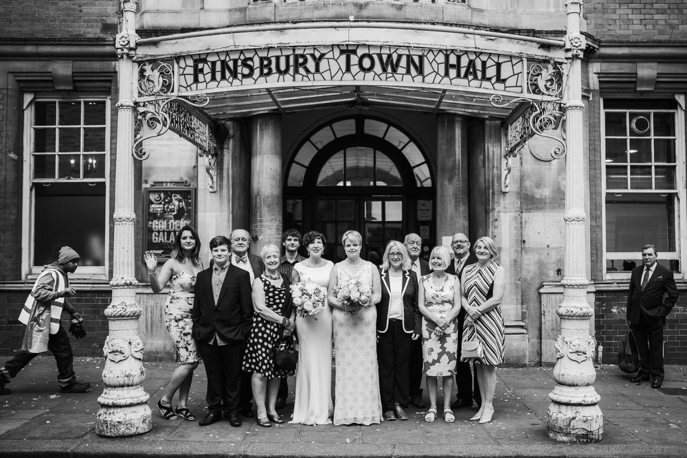 140 Finsbury Town Hall group photo reportage wedding.jpg